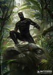 HMT Studios Kevin Tolibao Black Panther Art