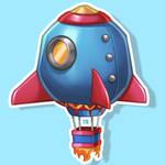 HMT Studios Rocket Balloon