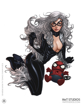 HMT Studios Kevin Tolibao Art Black Cat MARVEL 201