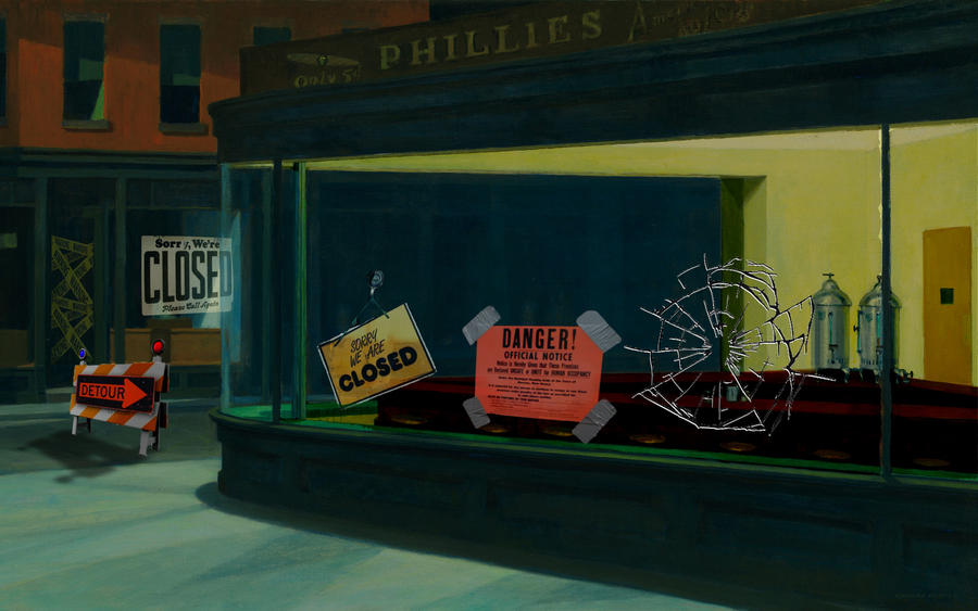 Bob S Burgers Diner Painting
