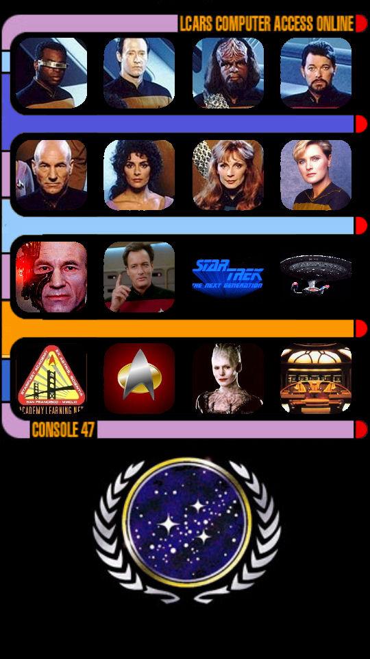 Star Trek Tng Lcars Wallpaper For Iphone 5 By Brandtk On