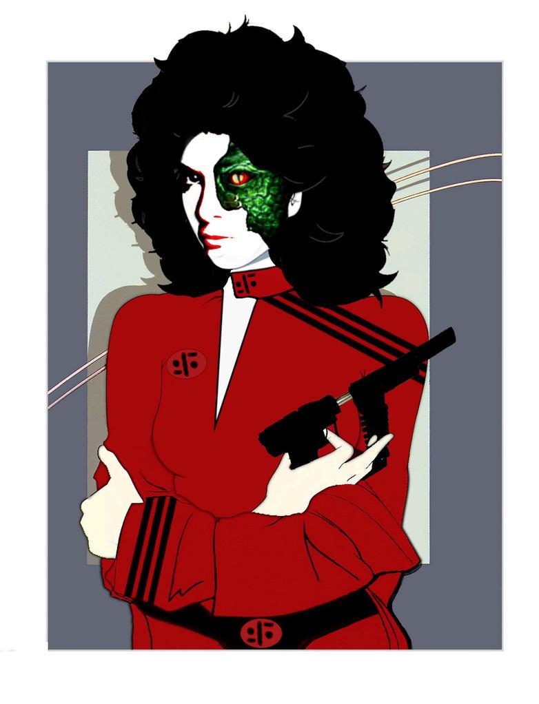 Diana from V Nagel Style Jane Badler by Brandtk on DeviantArt