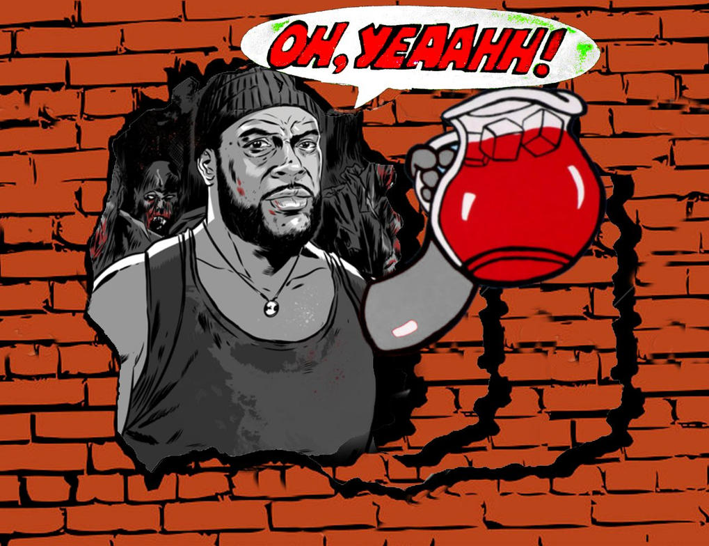 Tyreese new Kool Aid Man Walking Dead by Brandtk