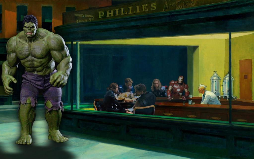 the Avengers Nighthawks by Brandtk
