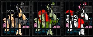 Arkham Asylum Catwoman Poison Ivy Harley Quinn