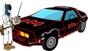 if doc brown were Batman by Brandtk