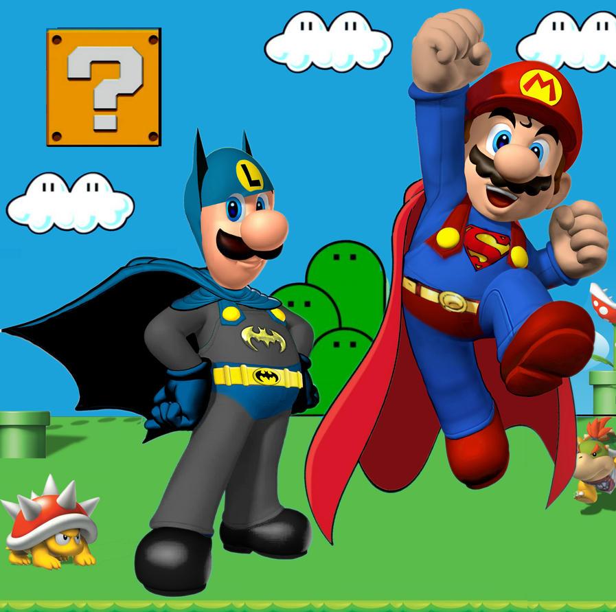 Bat Luigi and Super Mario by Brandtk