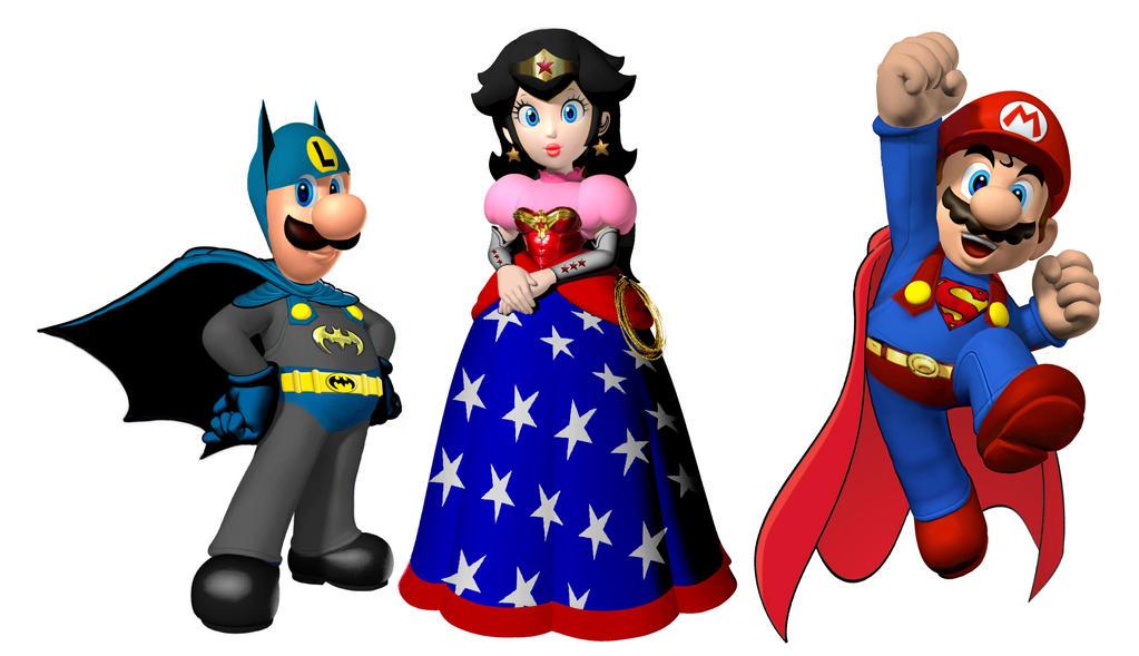 Nintendo Batman Wonder Woman Superman by Brandtk
