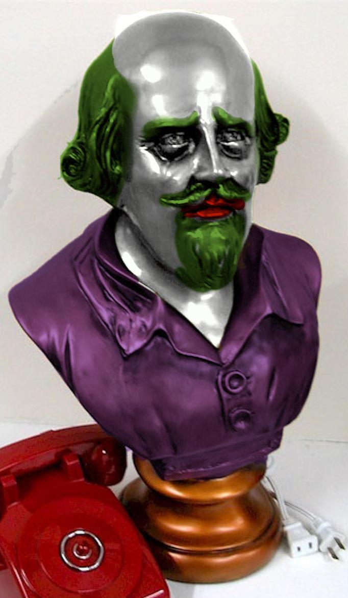 Joker-fied Shakespeare bust by Brandtk