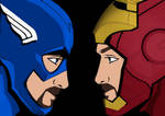 Me as Captain America and Iron Man in Civil War