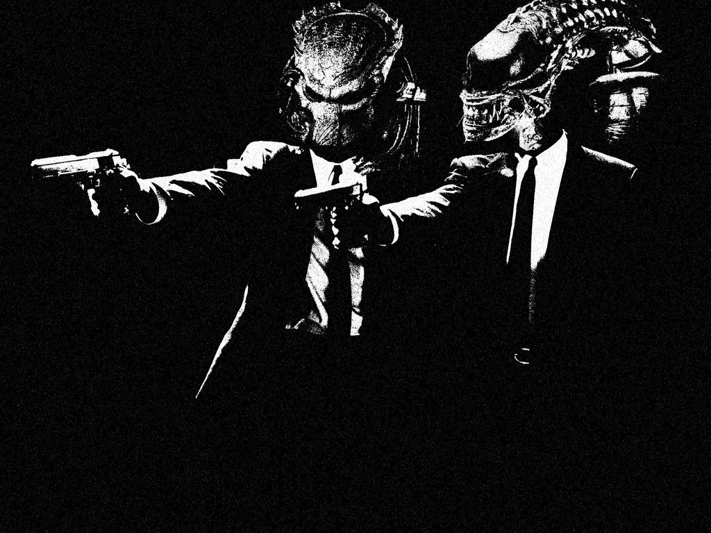 Alien versus Predator Pulp Fiction by Brandtk