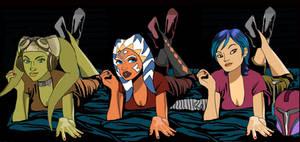 Hera Ahsoka Sabine sleepover Star Wars Rebels