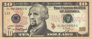 Hamilton $10 Lin-Manuel Miranda