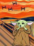 Baby yoda the scream mandalorian