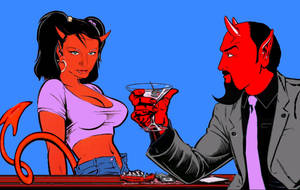my girl and I as coop's devil and devil girl