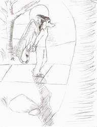 kay's stroll... by Dracomega