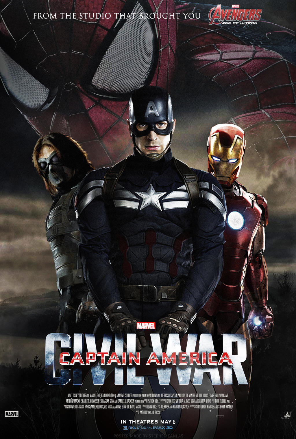 captain america civil war fan made poster by stphncnls