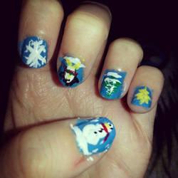 Nail Art- Winter Nails by Luna-child