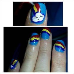 Happy Rainbow Nails by Luna-child