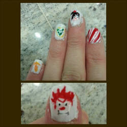 Wreck It Ralph Nails by Luna-child