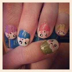 Cuppycake Nails!! by Luna-child