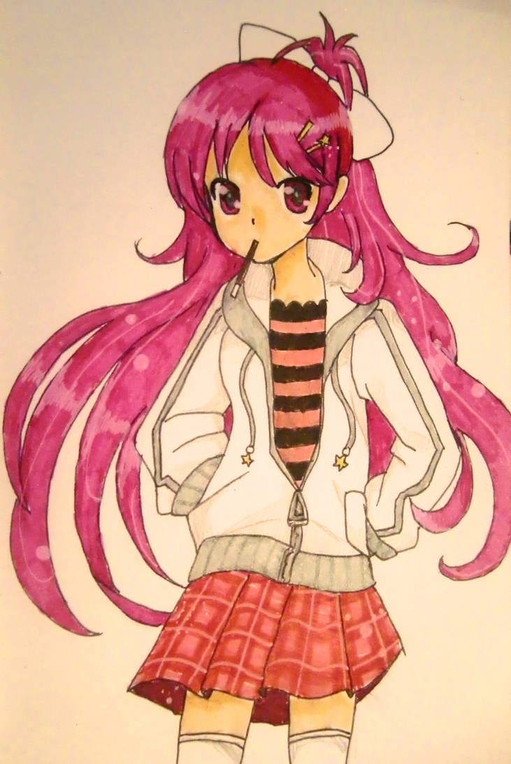 Anime girl with jacket 3 re upload by lindepet