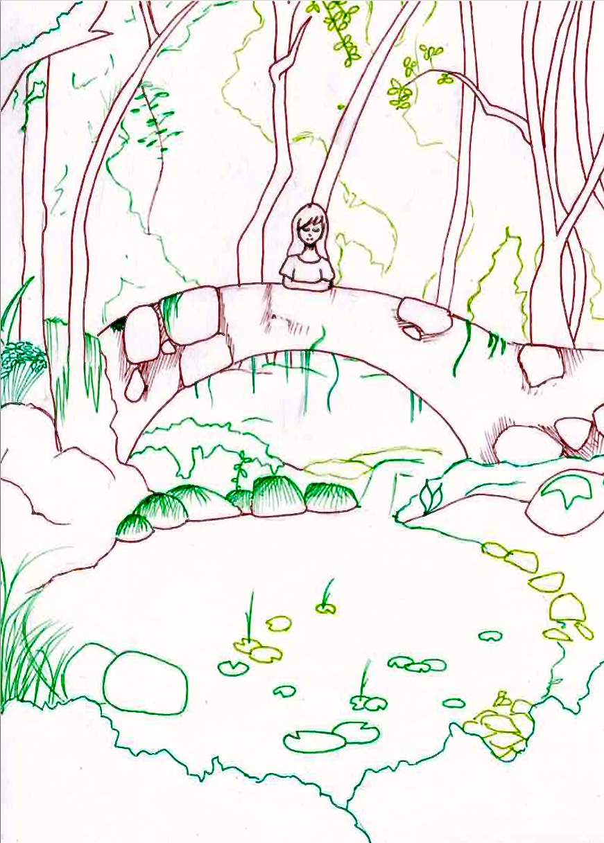 Line Art Forest : Forest line art by lindepet on deviantart