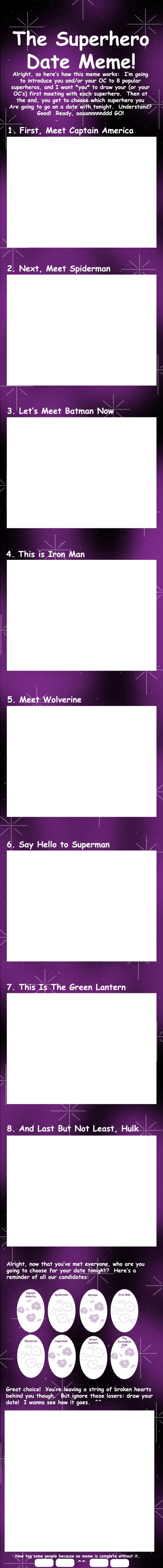 Superhero Speed Date Meme by FlirtingWithInsanity