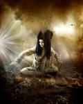 Meditating by Mo-Nabbach