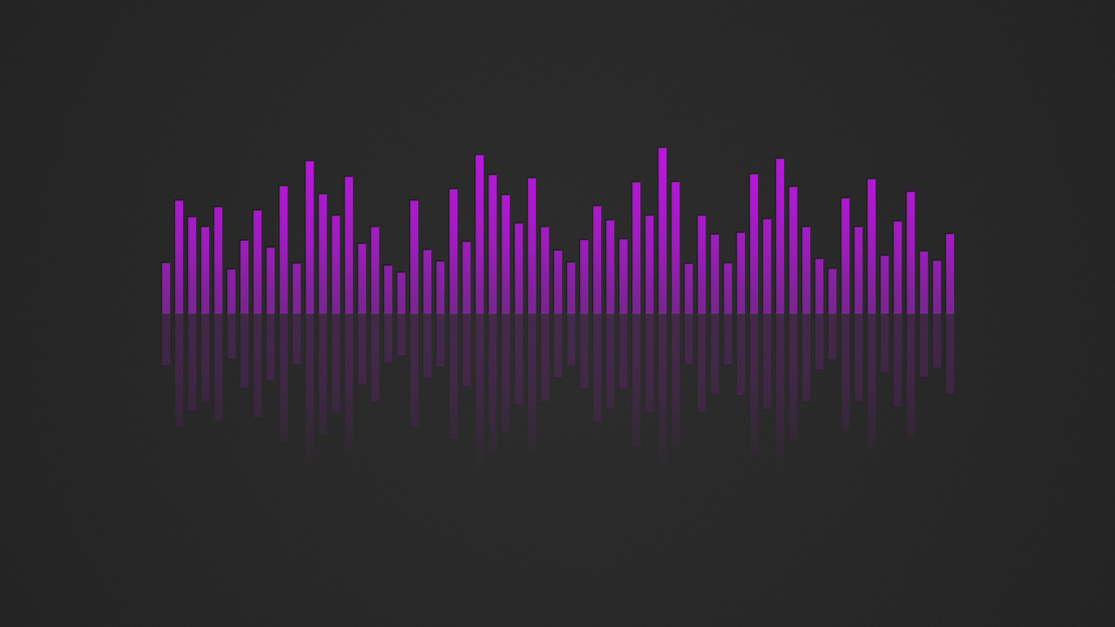 Music Visualizer 4k Wallpaper Purple By Rv770 On Deviantart
