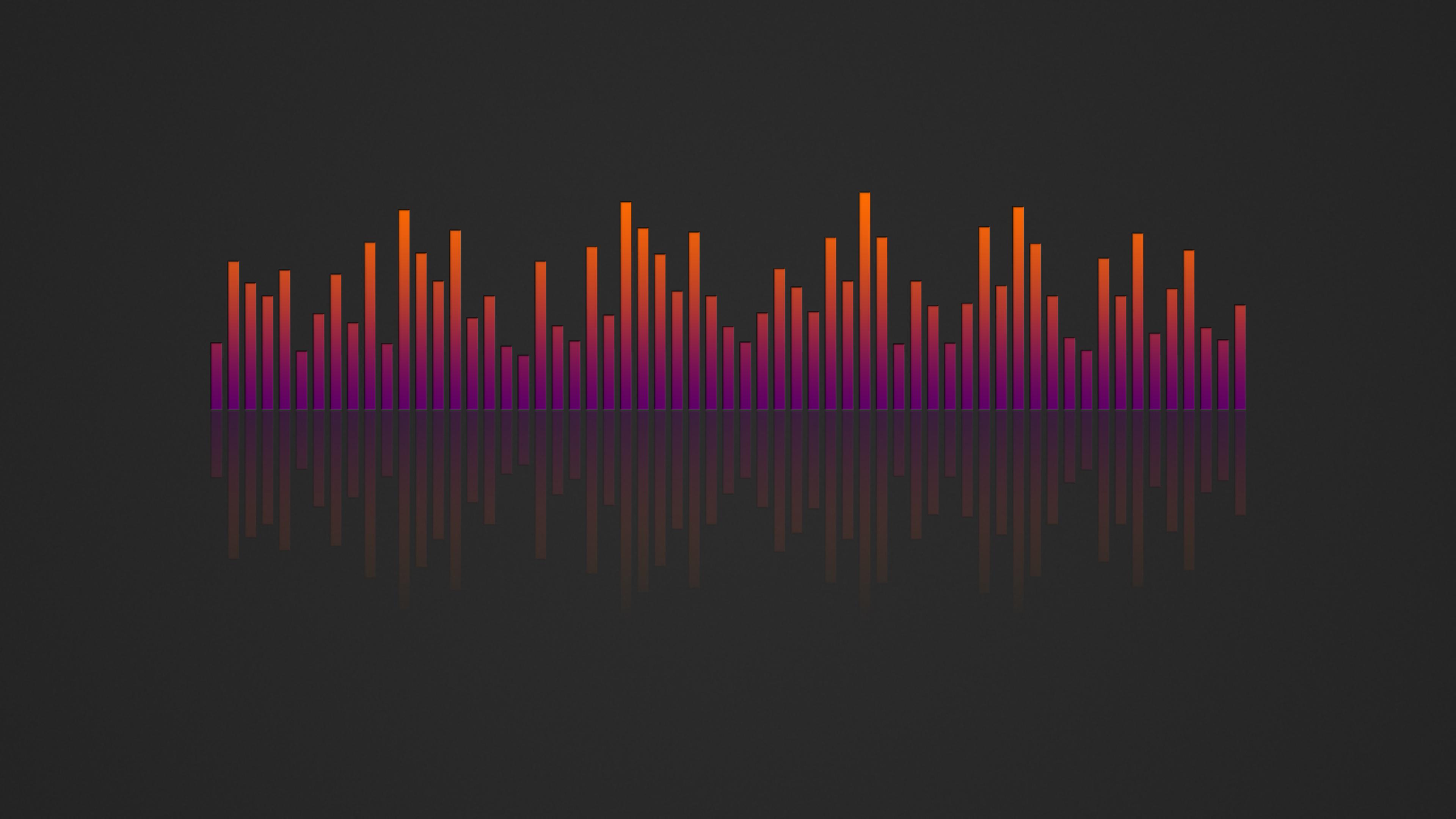 Music Visualizer 4k Wallpaper Orange Purple By Rv770 On Deviantart