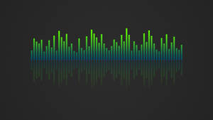 Music Visualizer 4K Wallpaper Blue Green