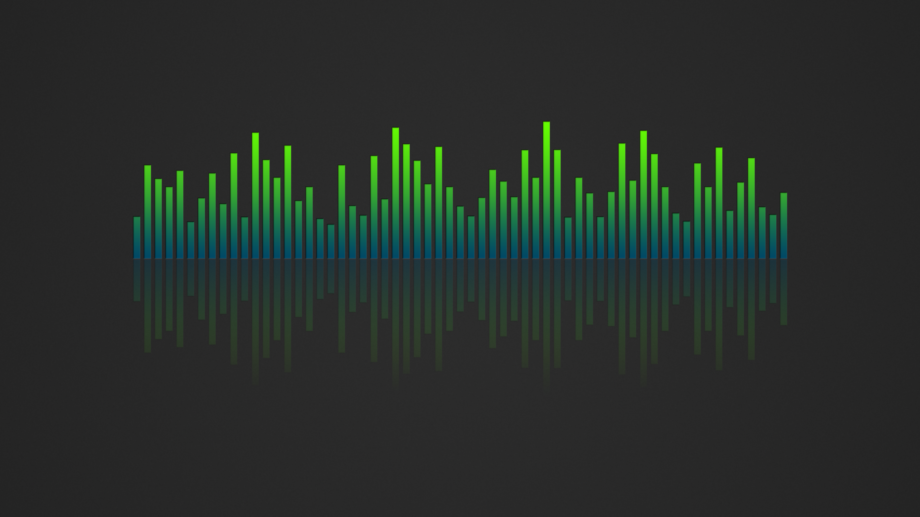 Music Visualizer 4K Wallpaper Blue Green by RV770 on