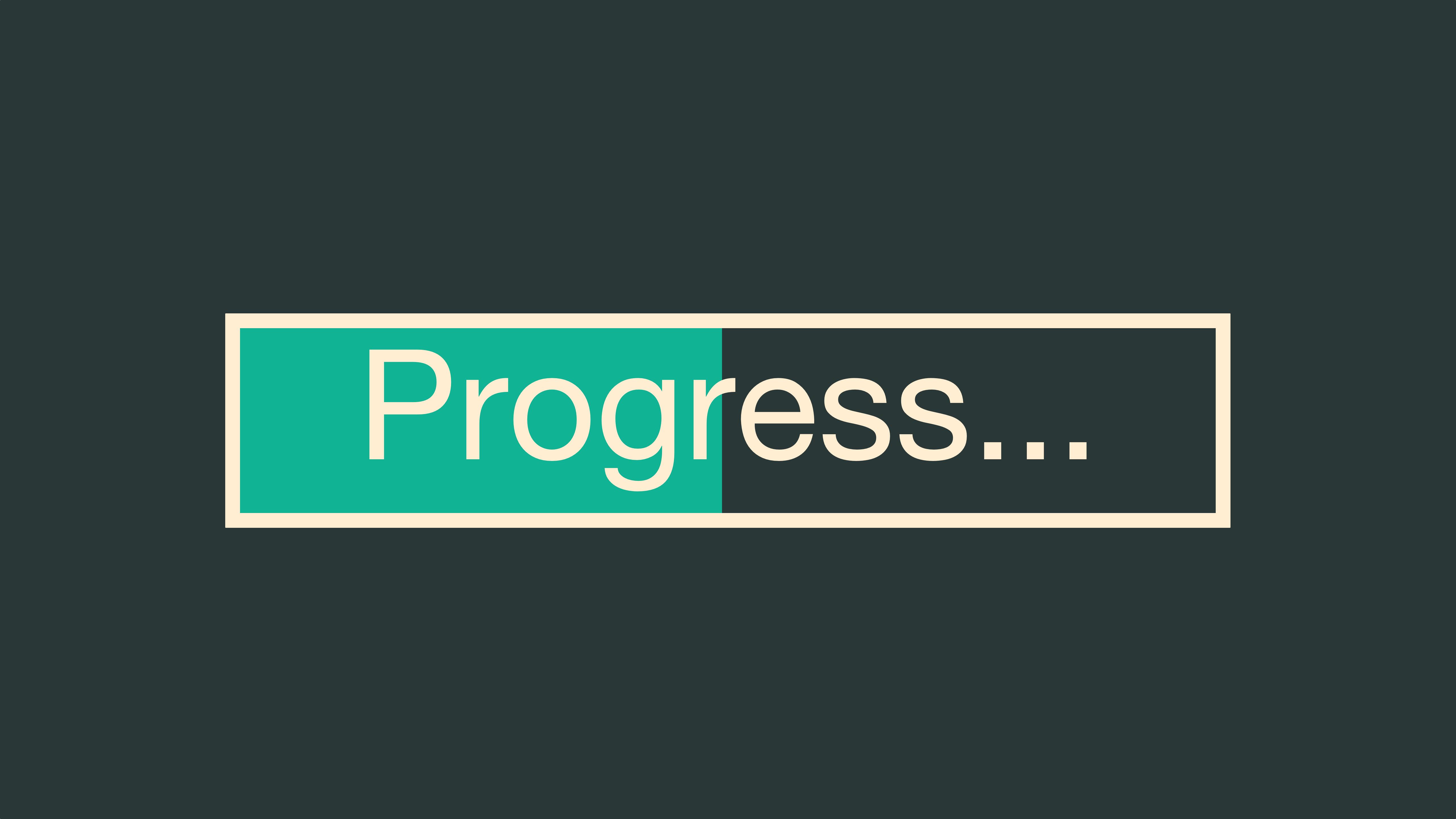 Progress Bar 5K Wallpaper