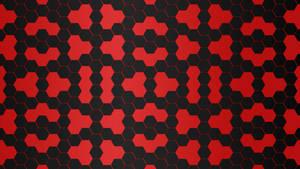 Black Red Hexagon 5K Wallpaper