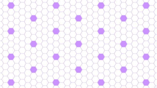 Purple Hexagon Dots 5K Wallpaper
