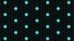Blue Hexagon Dots 5K Wallpaper