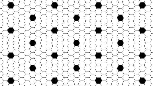 Black Hexagon Dots 5K Wallpaper