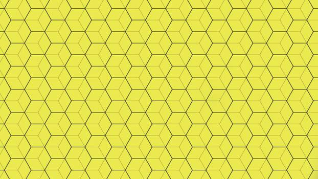 Yellow Hexagon Texture 5K