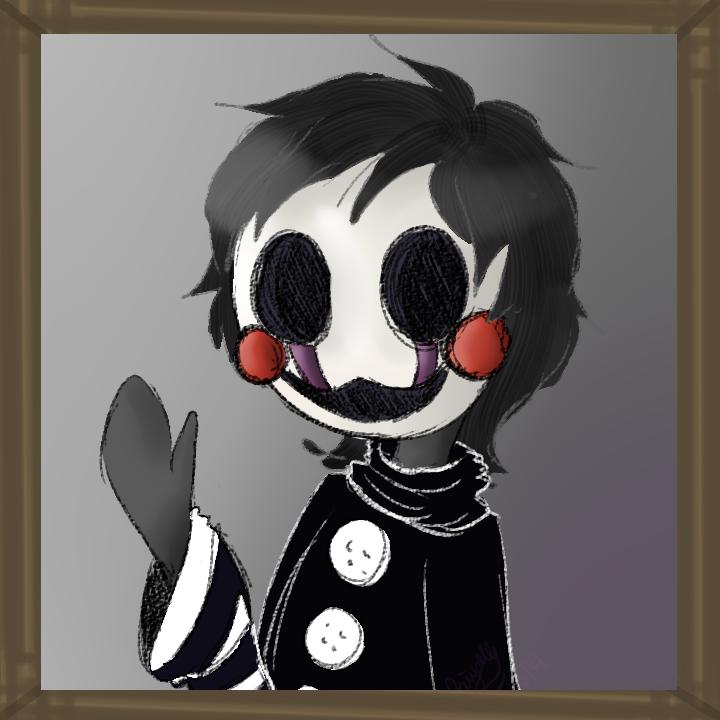 fnaf 2 chibi human ish marionette by kilala1148