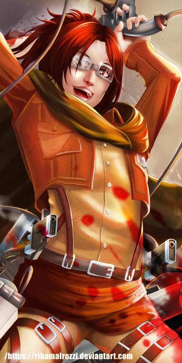 Hange Zoe | Attack on Titan by RihamAlrozzi on DeviantArt