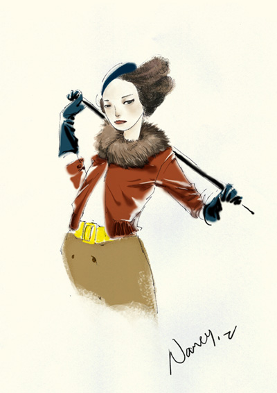 fashion illustration by nancy0039