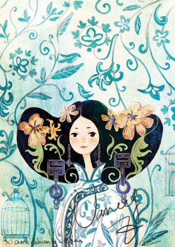blue white porcelain by nancy0039