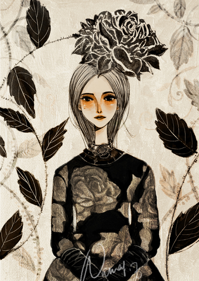 Dark Rose in the night by nancy0039