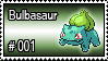 001 - Bulbasaur by PokeStampsDex