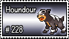 228 - Houndour by PokeStampsDex
