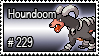 229 - Houndoom by PokeStampsDex