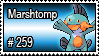 259 - Marshtomp by PokeStampsDex