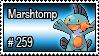 259 - Marshtomp by PokeStampsDex