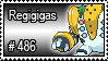 486 - Regigias by PokeStampsDex